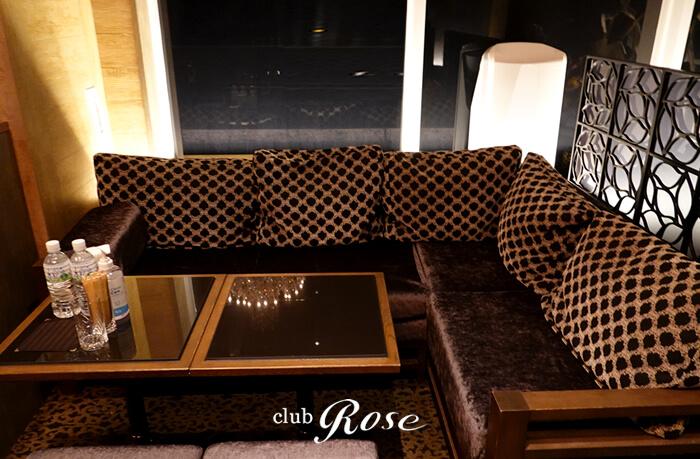 クラブローゼのVIPのボックス席